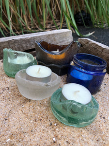 Sea Glass Tea Light Holders