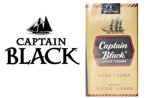 Captain Black Dark Crema Little Cigars 20's Box of 10 Packs