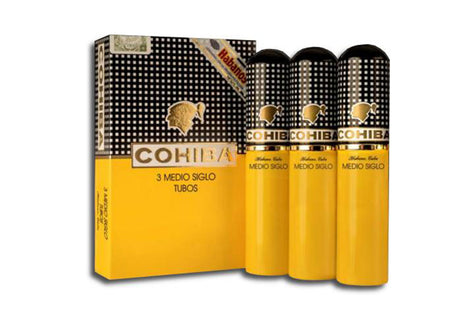 Cohiba Medio Siglo Pack of 3 Tubos