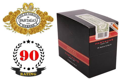 Partagas Serie D No.5 Tubos Box of 15 Sticks