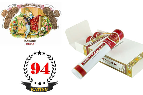 Romeo Y Julieta Short Churchills Tubos Pack of 3 Sticks