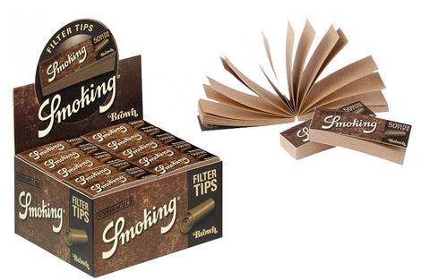 Smoking Brown Filter Tips Box of 50 Booklets