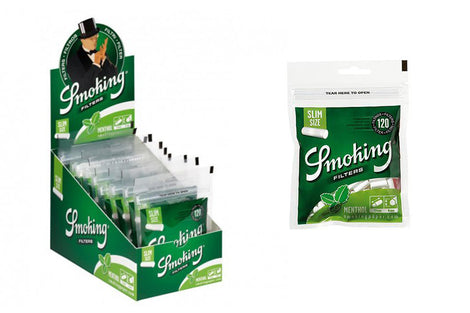 Smoking Menthol Slim Filters Box of 10 Packs