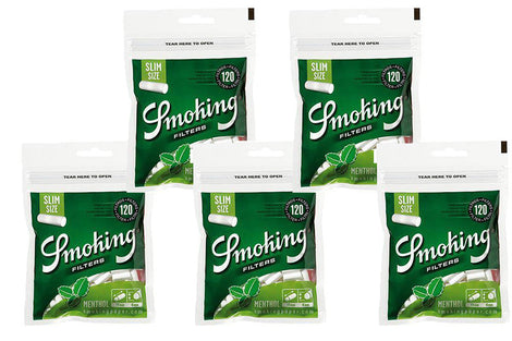 Smoking Menthol Slim Filters 5 Packs