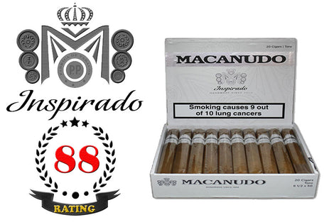 Macanudo Inspirado White Toro Box of 20 Sticks