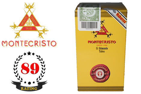 Montecristo Edmundo Tubos Box of 15 Sticks