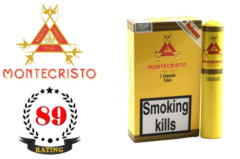 Montecristo Edmundo Tubos Pack of 3 Sticks