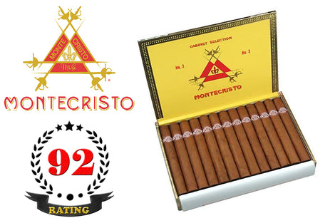 Montecristo No. 3 Box of 25 Sticks