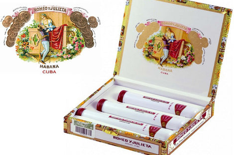 Romeo Y Julieta No.1, No. 2, No. 3 Deluxe Tubos Sampling Box