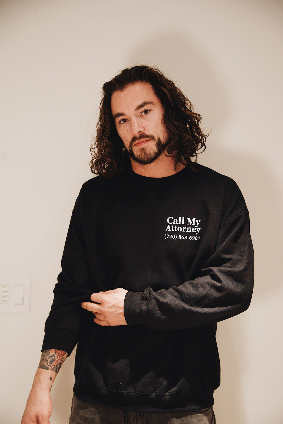 Call My Attorney Crewneck