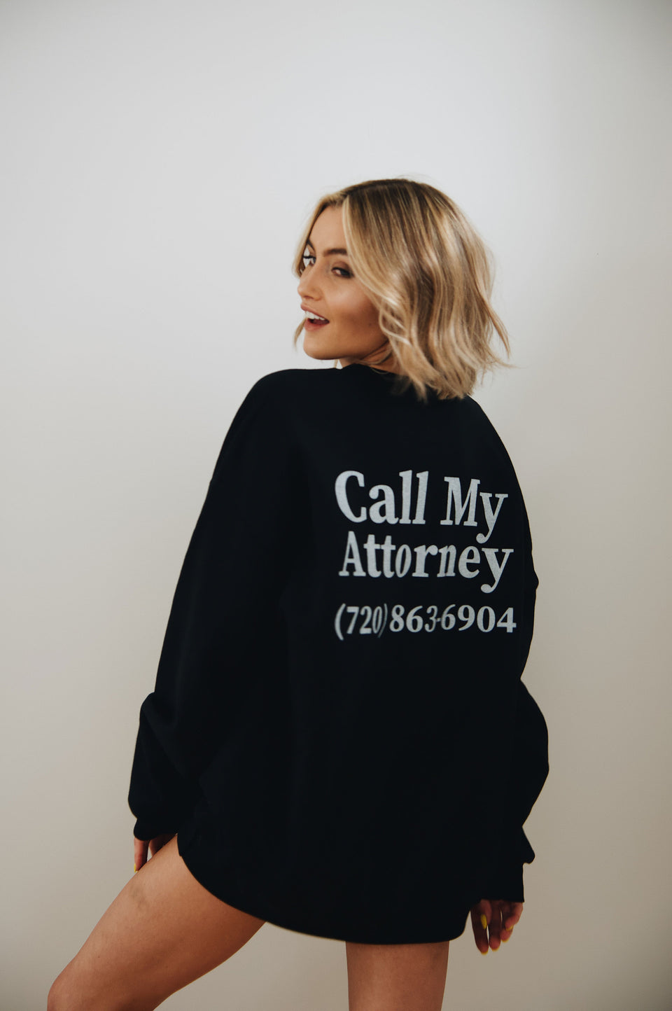 Girls Call My Attorney Crewneck