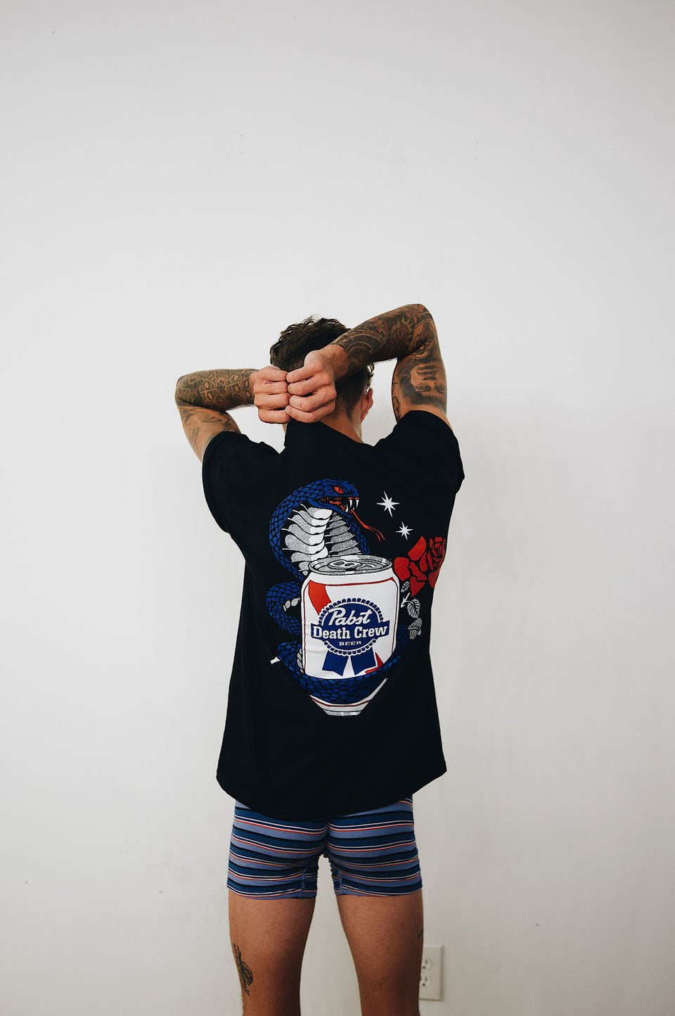 Pabst Blue Ribbon x Ruckus Cobra Rose Tee