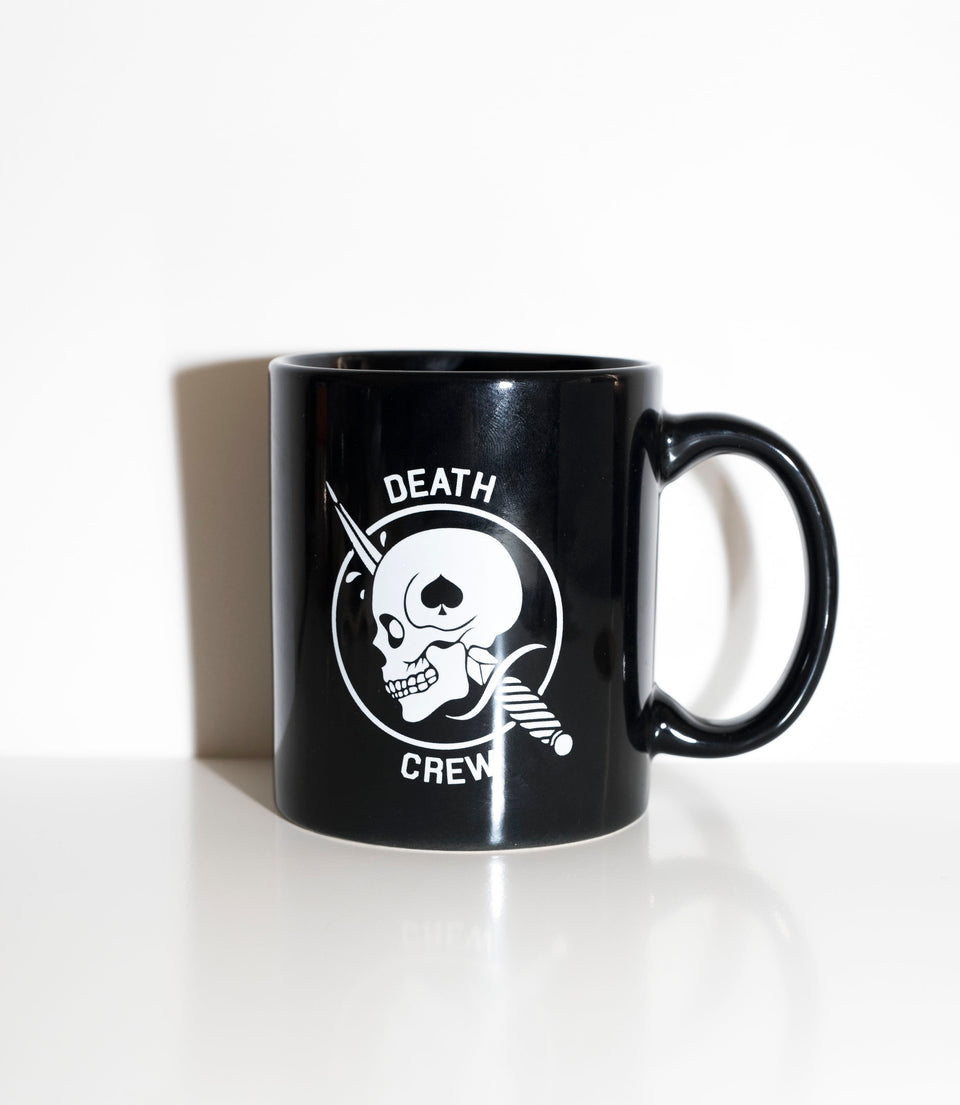 BLACK DEATHCREW COFFEE MUG