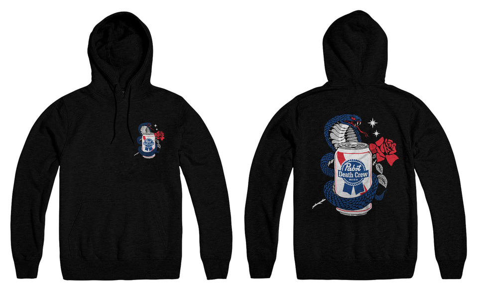 Pabst Blue Ribbon x Ruckus Cobra Rose Hoodie