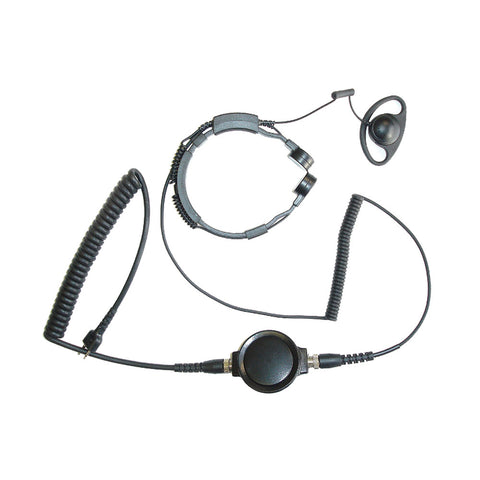 Maximon - Max-TMD Throat Microphone with D shaped earpiece