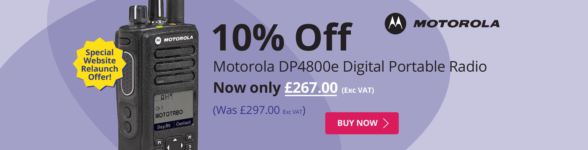 10% Off Motorola DP4400e Digital Portable Radio