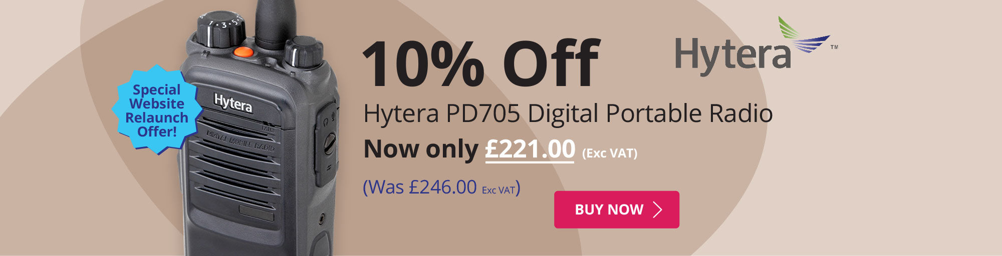 10% off Hytera PD705 Digital Portable Radio