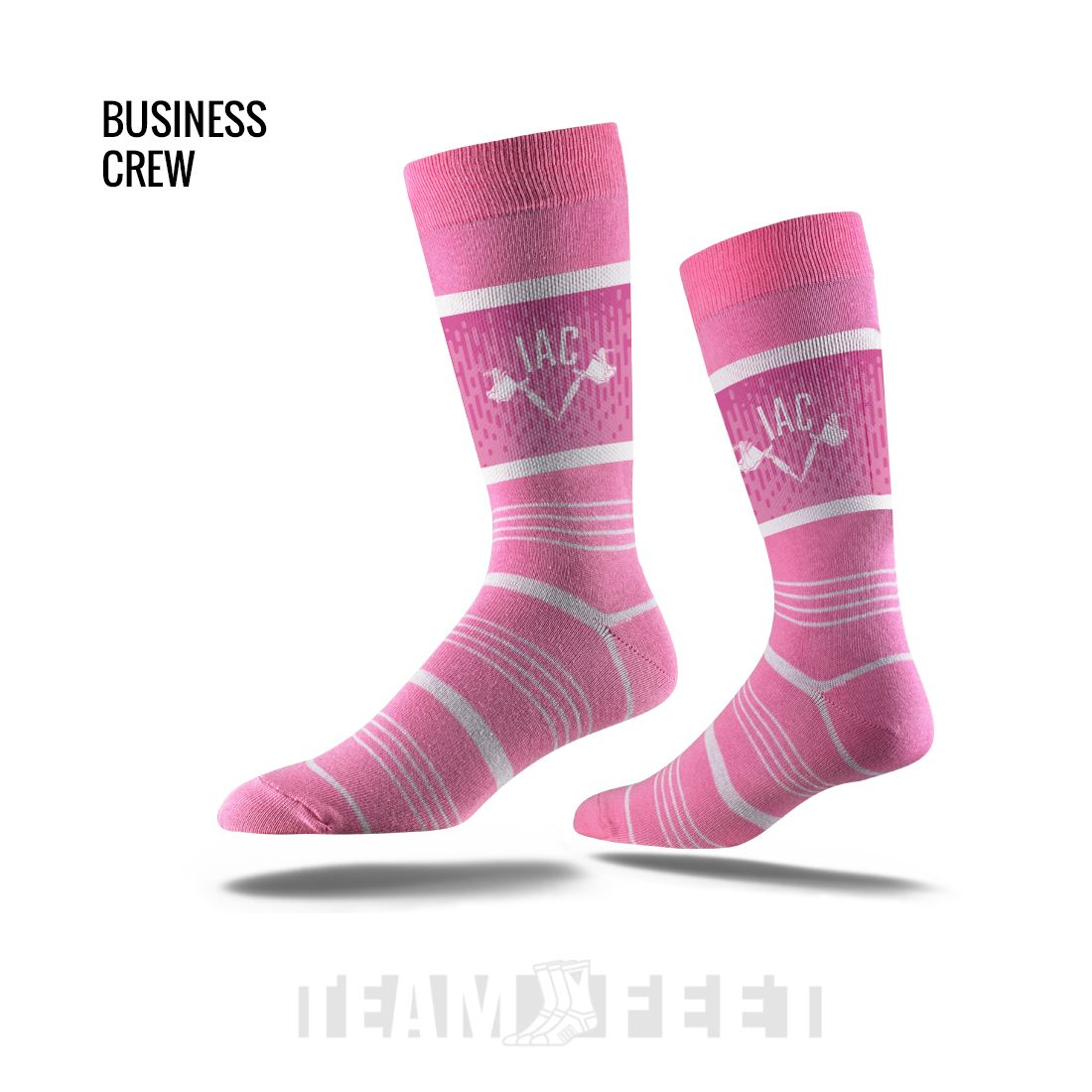 INKED ADDICTED CLOTHING - PRE SALE - PINK STRIPE BUSINESS CREW