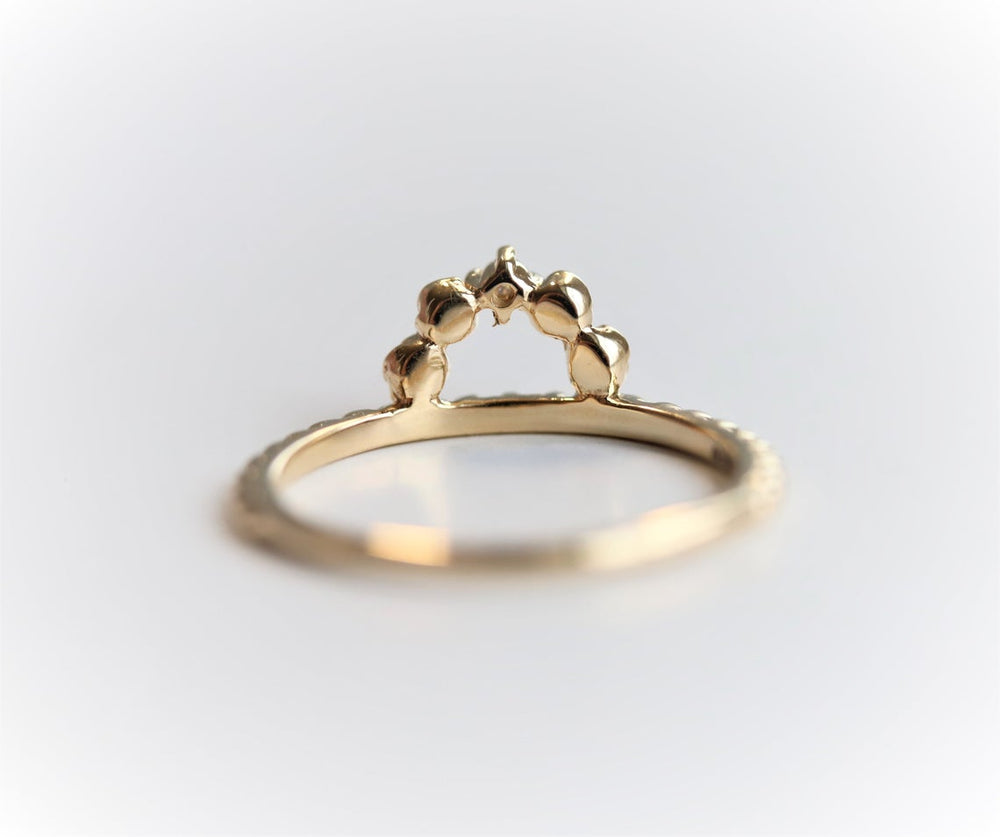 Rosette | 14K Rose Arch and Diamond Ring