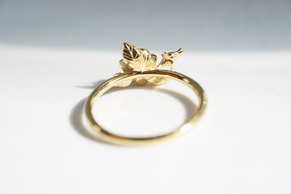 ROSE Ring | 14K Rose WITHOUT the Rose Bud Ring