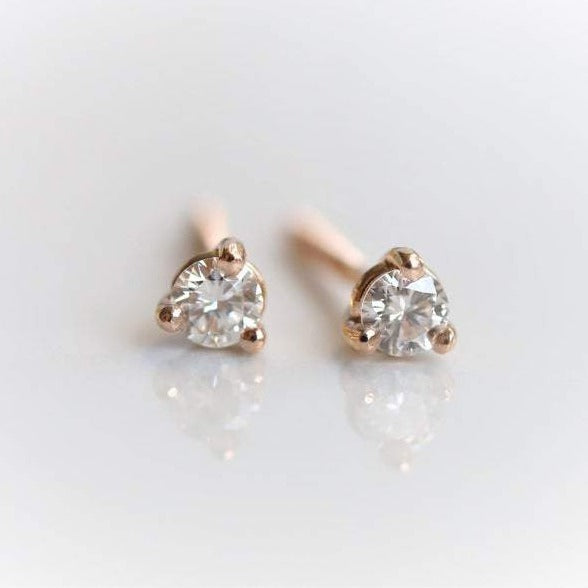 Classic Cocktail Style Diamond Stud Earrings