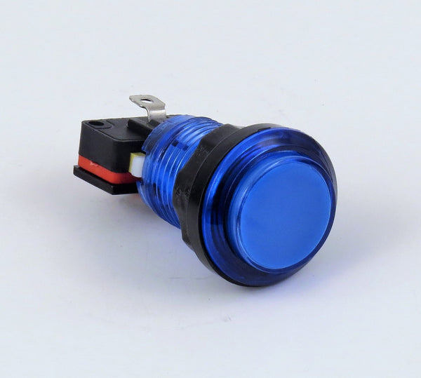 Illuminated LED Arcade Button - Blue