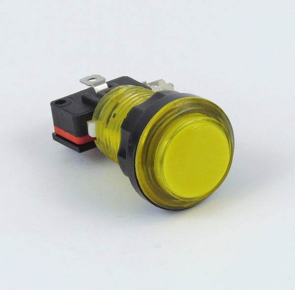 Illuminated LED Arcade Button - Yellow
