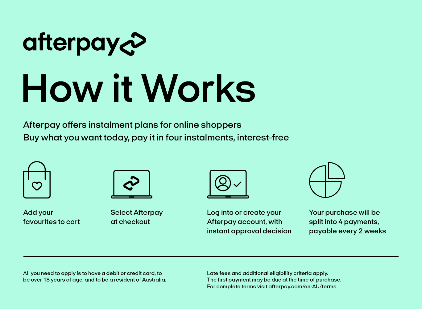 How Afterpay works - buy baby clothes now and pay later interest free