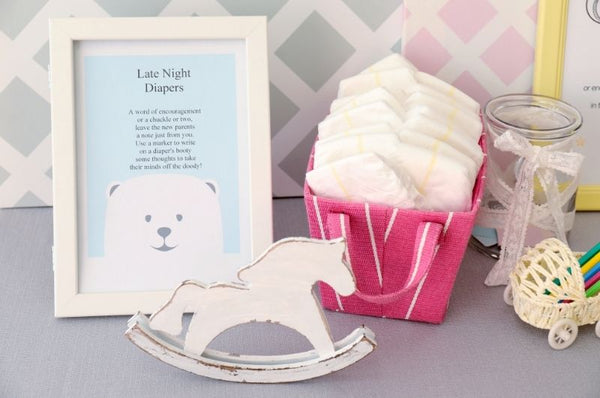 baby shower game - fun nappy messages