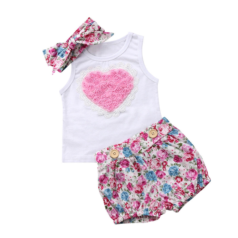 Charlotte Floral Set | Baby Girl Clothes - Lulu Babe