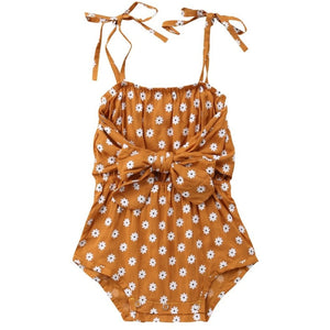 Daisy Tie Romper | Baby Girl Clothes - Lulu Babe