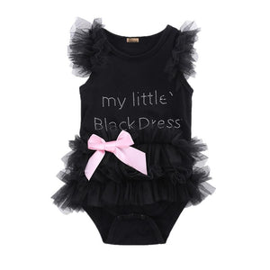 My Little Black Dress Tutu Romper | Baby Girl Clothes - Lulu Babe