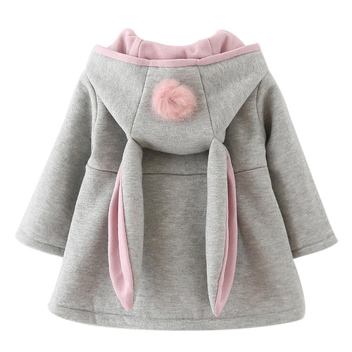 Rabbit Ears Hooded Coat | Baby Girl Clothes - Lulu Babe