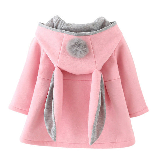 Bunny Ears Hooded Coat | Clothing - Lulu Babe