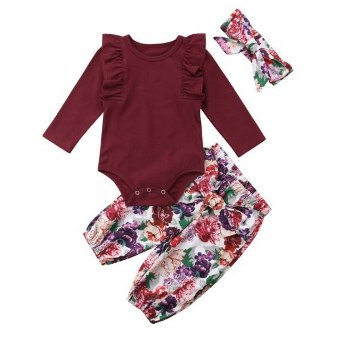 Ruby Ruffle Set | Clothing - Lulu Babe