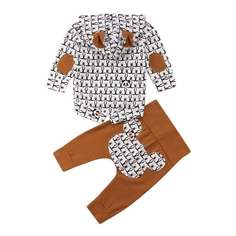 Baby Bear Pullover Set | Clothing - Lulu Babe