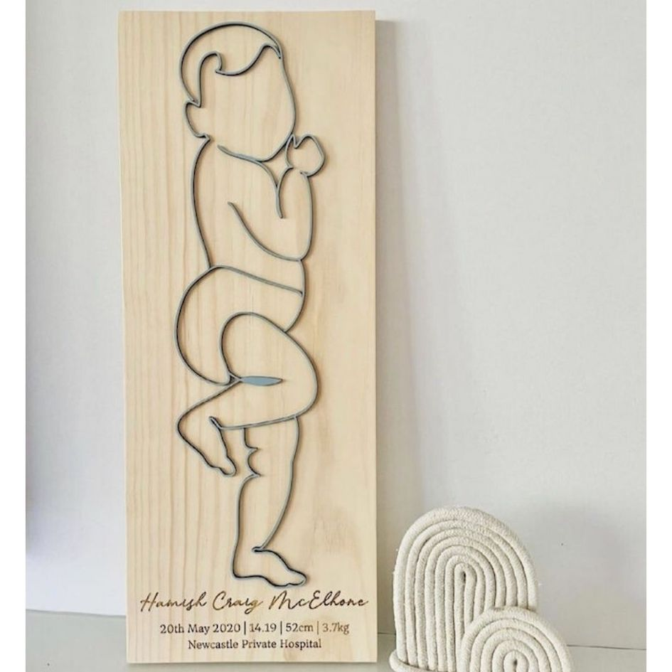 Baby Birth Plaque 1:1 Scale - Timber Tinkers | Nursery - Timber Tinkers