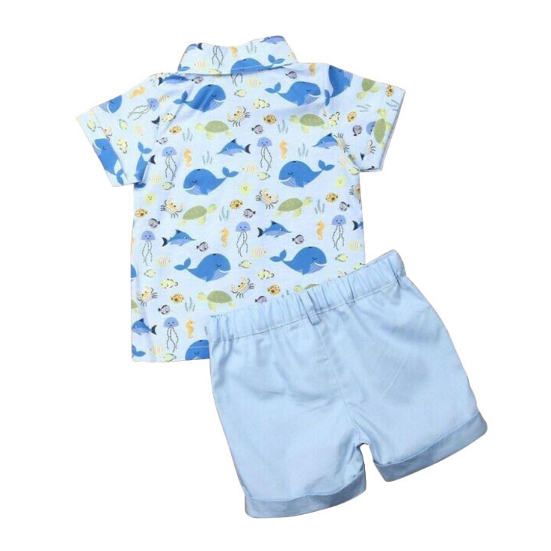 Blue Whale Set | Clothing - Lulu Babe