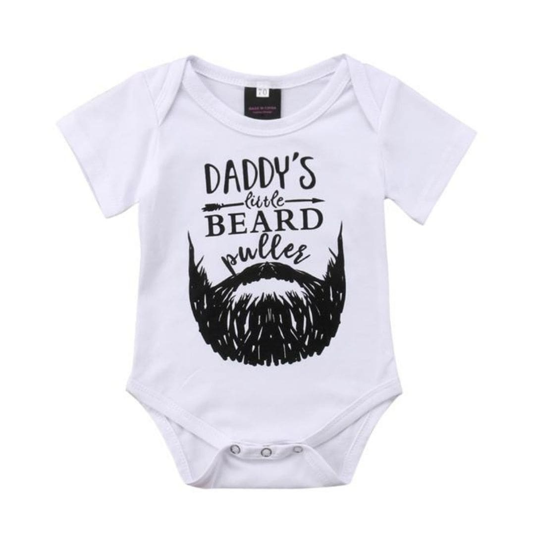 Daddy's Beard Puller Romper | Clothing - Lulu Babe