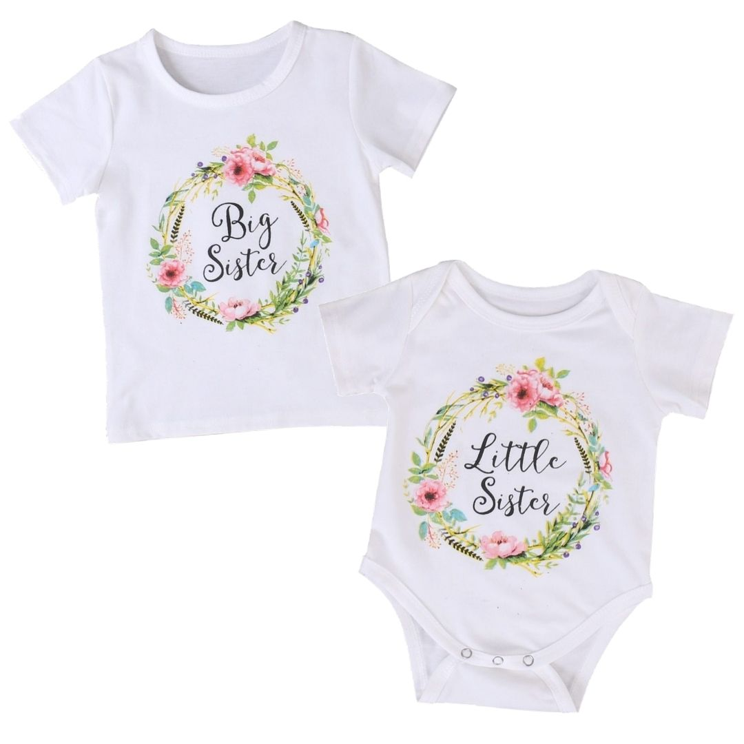 Matching Sister Romper or T-Shirt | Clothing - Lulu Babe