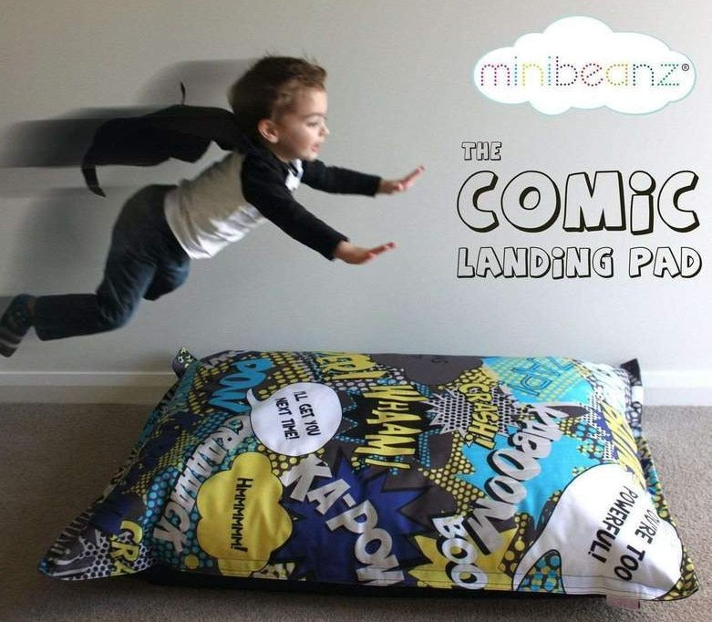 Mini Beanz® Comic Landing Pad Bean Bag | Nursery - Lulu Babe