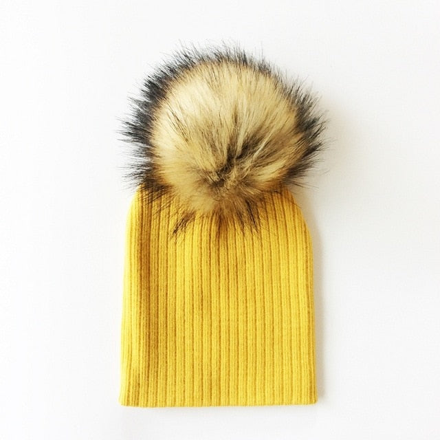 Ribbed Fur Beanie | Accessories - Lulu Babe
