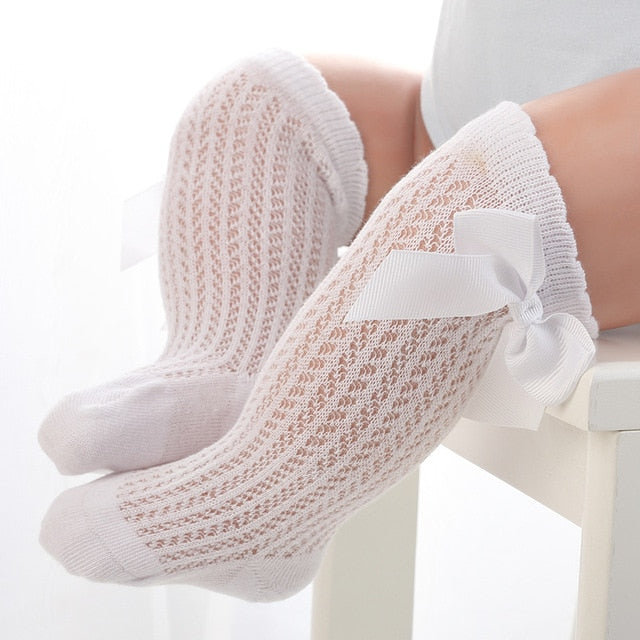 Bow Lace Knee High Socks | Accessories - Lulu Babe