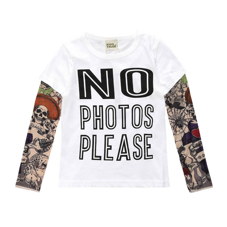 No Photos Please Tattoo Sleeve T-shirt
