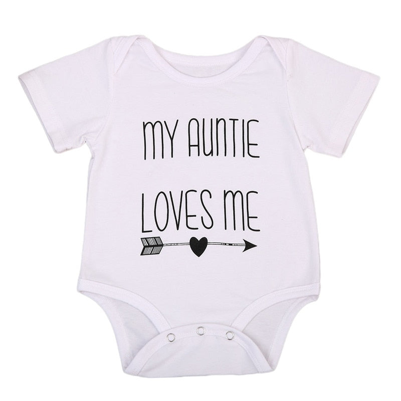 My Auntie Loves Me Romper | Clothing - Lulu Babe