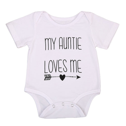 My Auntie Loves Me Romper | Unisex Baby Clothes - Lulu Babe