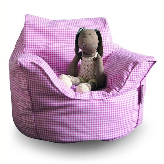 Mini Beanz Toddler Lounge Bean Bag Pink