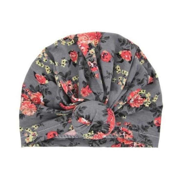 Top Knot Turban Grey | Accessories - Lulu Babe