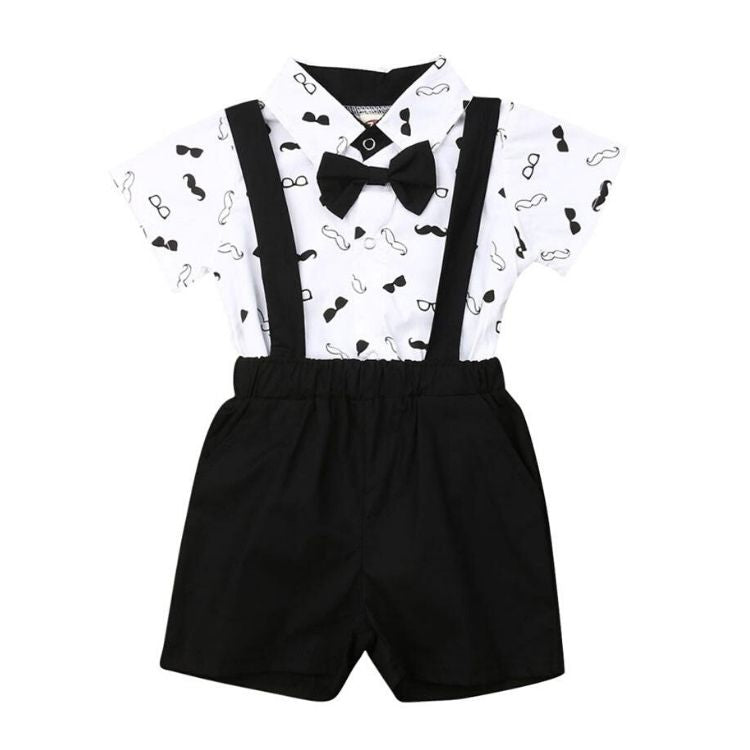 Tuxedo Shorts Set | Clothing - Lulu Babe