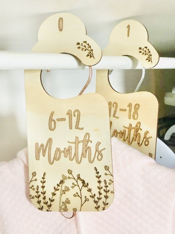 Baby Wardrobe Dividers | Nursery - Timber Tinkers